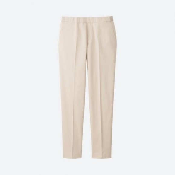 Uniqlo Pants - Uniqlo Satin Ankle Pant Natural